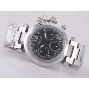 スーパーコピー カルティエ腕時計  パシャ   ウオッチ   カドラン    ブラック     オートマティック