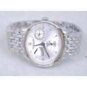 ジャガ•ールクルト スーパーコピーブランド腕時計代引き口コミ ステンレススチール カドラン ブラン リュネット オートマティック ウオッチ
