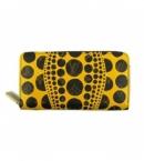 ルイヴィトン コピー財布代引き可能草間弥生コレクション ジッピーウォレット パンプキンドット イエロー M60449
