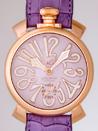 ガガミラノ コピー腕時計激安 おすすめ マニュアル48mm 手巻き 5011.2 パープル皮 ピンクマット