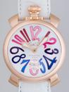 ガガミラノ コピー時計 メンズ 通販口コミ マニュアル48mm 手巻き 5011.9 ホワイト皮 マルチカラーアラビア