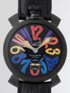 ガガミラノ 時計 コピー 代引きおすすめ 口コミマニュアル48mm 手巻き 5012.3 ブラック皮 ブラックステッチ
