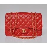 chanel コピー通販代金引換国内羊革 ECS009210 女性 ショルダーバッグ 赤い