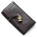 8ep042 7e422 174 クロエ 偽物長財布 小銭入れ付き パディントン ダークブラウン 安全中国国内発送