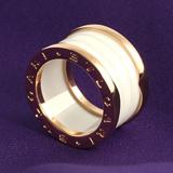 ブルガリ ブランド レプリカ 代引き 通販評価 ビーゼロワン リング(指輪) ホワイトセラミック&ピンクゴールド(4バンド) AN855564