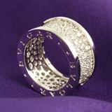 ブルガリコピーブランド 代引きビーゼロワン パヴェダイヤ リング(指輪) ホワイトゴールド AN855552