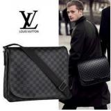 メンズ ハンドバッグ メッセンジャーバッグ ルイ·ヴィトン Louis Vuitton N58029 ヴィトンダミエ生地 ブラック