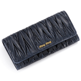 miumiu コピー財布 MATELASSE LUX二つ折り 長財布 5M1109 QI9 F0016 通販信用できる