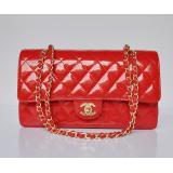 赤い シャネルエナメル 1113 CHANELシャネル 女性 ショルダーバッグ