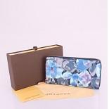 <b> 90018 モノグラム ルイ·ヴィトン Louis Vuitton 男性女性 ユニセックス 長財布  ブルー</b>