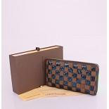 63172 ルイ·ヴィトン Louis Vuitton ブルー ダミエ 男性女性 ユニセックス 長財布