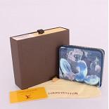 90029 ルイヴィトン コピー財布モノグラム ブルー 男性女性 ユニセックス 短い財布 代引き口コミ