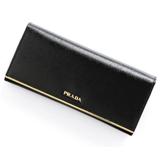 プラダ コピー品 SAFFIANO VERNICEメタルロゴデザイン 二つ折り長財布 ラージ 1M1244 2A16 F0002