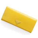 プラダ財布コピーブランド 代引きSAFFIANO VERNICE三角ロゴプレート付 二つ折り長財布 1M1132 2AO6 F065Y