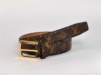 ブラウン ルイ·ヴィトン Louis Vuitton モノグラム M3007 男性女性 ユニセックス ベルト