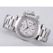 カルティエ ブランド腕時計コピー通販後払い   パシャ   ウオッチ  カドラン  ブラック オートマティック