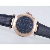 カルティエコピー腕時計  パシャ   ウオッチ  カドラン    ブラック-ダメ      タイユ    ダイヤモンド