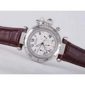 スーパーコピー カルティエ腕時計 通販信用できるパシャ   ウオッチ   カドラン  ブラン   -  オートマティック