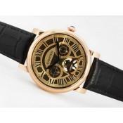 カルティエ コピー 時計  サントス   ウオッチ-バージョン   手巻き   オートマティック  PVD 専門店