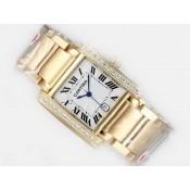 カルティエ 時計 コピー代引き通販届く タンク ウオッチ カドラン  ブラン   トラヴァイユ
