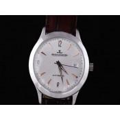 ジャガ•ールクルト 偽物腕時計通販後払い  ステンレススチール カドラン ブラン オートマティック ウオッチ