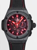 ウブロ HUBLOT キングパワー レッドマジック 701.CI.1123.GR ブラックスケルトン腕時計偽物販売