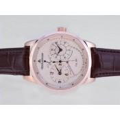 ジャガールクルト 偽物時計通販後払い ステンレススチール カドラン ローズ