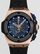 ウブロ キングパワー ウクライナ 716.OM.1129.RX.EUR12 ブラックラバー 世界限定250本 ブラックスケルトンレプリカ腕時計販売