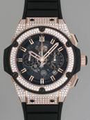 ウブロ HUBLOT キングパワー ウニコ キングゴールド 701.OX.0180.RX.1704 ベゼル・ラグダイヤ ブラックスケルトン腕時計激安代引き