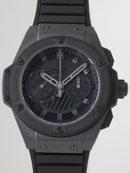 ウブロ HUBLOT キングパワー フドロワイアント オールブラック 715.CI.1110.RX ブラックラバー ブラック腕時計激安代引き