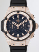 ウブロ HUBLOT キングパワー フドロワイアント ゴールド 715.PX.1128.RX.1704 ベゼル・ラグダイヤ ブラックラバー ブラックレプリカ腕時計販売