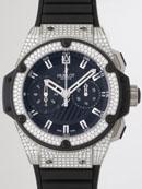 ウブロ HUBLOT キングパワー フドロワイアント ジルコニウム 715.X.1127.RX.1704 ベゼル・ラグダイヤ ブラックラバー ブラックスーパーコピーブランド腕時計