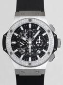 ウブロ HUBLOT ビッグ・バン アエロバン スチール 311.SX.1170.RX.1104 ベゼルダイヤ ラバーベルト ブラックスケルトン最高品質コピー腕時計代引き対応
