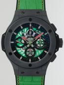 ウブロ HUBLOT アエロバン メキシコ 310.CI.1190.GR.FMF10 グリーン 世界限定250本 ブラック/グリーンケルトンスーパーコピーブランド腕時計