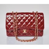 女性 ショルダーバッグスーパーコピー chanel エナメル 赤い ECS009228