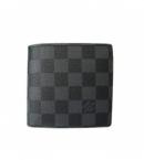 (LOUIS VUITTON) 通販 ルイヴィトン ブランドコピー激安 ダミエグラフィット メンズ二つ折り小銭入れ付 N62664