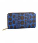 ルイヴィトン 財布 コピー M60448  ジッピー.ウォレット/ブルー/パンプキンドット