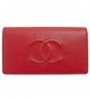 スーパーコピー シャネル長財布 二つ折りフラップ ココマーク キャビアスキン/レザー レッド A48651