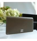 chanelスーパーコピー品販売カーフ型押し 長財布CCロゴ グレーA46314