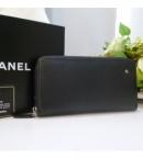 chanel コピー品通販届くラウンドジップ長財布 カメリア黒シルバA47007