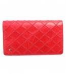 chanel スーパーコピー財布代引き対応二つ折り  ココマーク キルティング ビコローレ レザー レディース レッド A46356