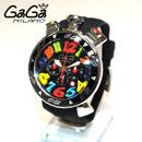 ガガミラノ 商品通販 クロノ 48mm ブラック ラバー/シルバー 60502 BK コピー時計代引き口コミ
