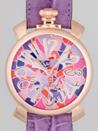 ガガミラノ 時計 コピー 代引き商品通販マニュアル48mm 手巻き 5011 MOSAICO 2 パープル皮 ピンクモザイク