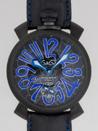 ガガミラノ スーパーコピー 通販口コミ マニュアル48mm 手巻き 5012 MOSAICO 2 ブラック皮 ブラックモザイク