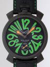 ガガミラノ時計 スーパーコピー通販後払い マニュアル48mm 手巻き 500本限定 5016.3 ブラック皮 ブラックカーボン