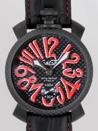 ガガミラノ時計 スーパーコピー通販代引きマニュアル48mm 手巻き 500本限定 5016.8 ブラック皮 ブラックカーボン