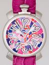ガガミラノ 時計 コピー 代引き通販口コミマニュアル48mm 手巻き 5010 MOSAICO 2 チェリー皮 ピンクモザイク