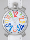 ガガミラノ腕時計コピー通販人気マニュアル48mm 手巻き 5010.1 ホワイト皮 ホワイト