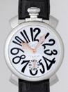 ガガミラノ 時計 コピー 代引き通販信用できるマニュアル48mm 手巻き 5010.7 ブラック皮 ブラックアラビア