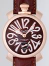 ガガミラノ コピー時計 メンズおすすめ 安全サイトマニュアル48mm 手巻き 5011.1 チョコブラウン皮 チョコブラウン